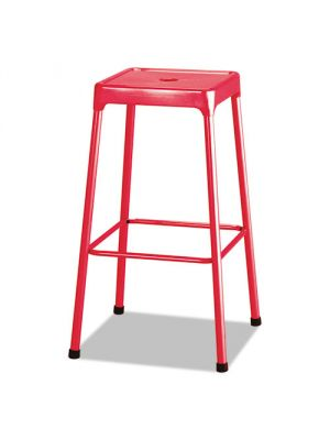 Safco Bar-Height Steel Stool, Red