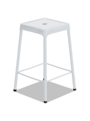 Safco Bar-Height Steel Stool, White