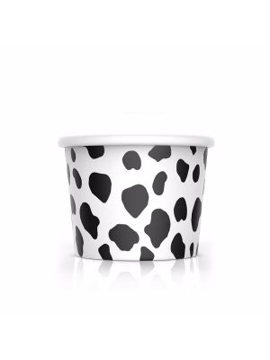 4 oz Cow Print Ice Cream Cups, 1000/cs