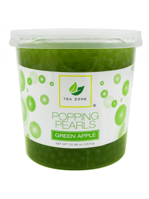 Tea Zone Green Apple Popping Pearls (7 lbs)