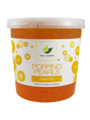 Tea Zone Mango Popping Pearls (7 lbs)