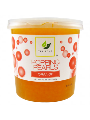 Tea Zone Orange Popping Pearls (7 lbs)