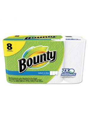 Select-a-Size Perforated Paper Towels, 11 x 5.9, White, 63 Sheets/Roll, 8/Pack