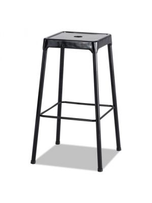 SAFCO Bar-Height Steel Stool, Black